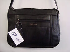 Soft Leather Zip Top Shoulder Bag With Many Features