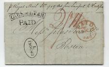 1843 Malaga Spain to Boston stampless via Gibraltar [45.199]