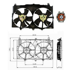 Dual Rad & Cond Fan Assembly Fits: 2003 - 2006 Infinity G35 V6 3.5L