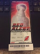 2012 NEW JERSEY DEVILS V LOS ANGELES KINGS STANLEY CUP FINALS TICKET STUB GAME 1