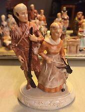 Sebastian Miniatures Pioneer Couple Copr 1958 Hand Painted Hudson, Ma