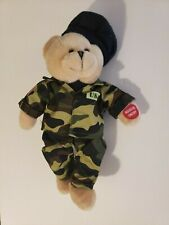 """Camo Bear in Camouflage Out Plays The Army Goes Rolling Along 121"""" High"""