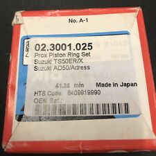 SUZUKI TS50ER/X Riken JAPAN PISTON Prox RING SET NEW 41.25 MM AD50/Adress KFX50