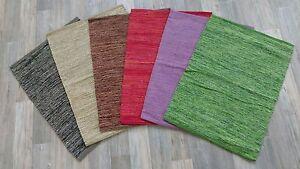 Fleckerl Handweb Teppich schwarz beige braun rot lila grün 60x90 70x130 80x150