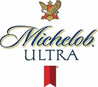 Michelob Ultra Beer Alcohol Bar Decal Diecut Sticker 4 Stickers