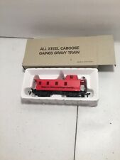 Ho Scale Bachman All Steel Red Caboose Gaines Gravy Train