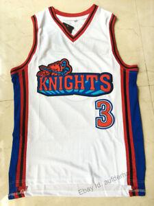 Calvin Cambridge #3 LA Knights Basketball Jersey Like Mike Men's Stitched White