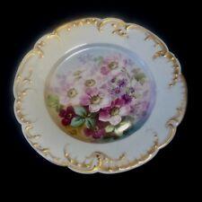 Assiette Haviland Porcelaine De Limoge Décor De Rose Peint XIXe N°2