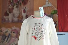 tee shirt  tartine et chocolat neuf 3 ans nacre edelweiss avec neoud nelle coll