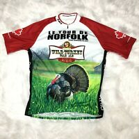 Louis Garneau Men's Size XL Half-Zip Wild Turkey Pale Ale Cycling Jersey