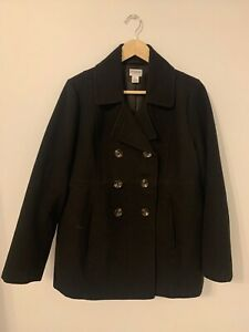 Motherhood Maternity Large Double-Breasted Winter Coat Pre-Owned Great Condition