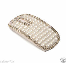 2.4G Wireless Slim Flat Optical Mouse Mice With Pearls and Shining Rhinestone