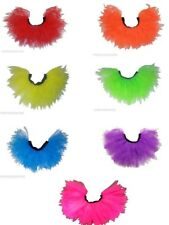 NEON TUTU SKIRT i love 80s FANCY DRESS FUN RUN HEN PARTY PLUS SIZE RUFFLE tutus