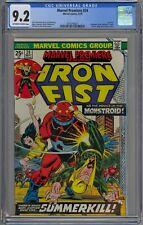 Marvel Premiere #24 CGC 9.2 NM- OwWp Marvel Comics 1975 Iron Fist Vs. Monstroid