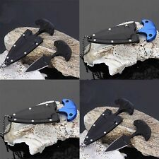 Portable Double Blade Dagger Neck Knife With Chain Outdoor Delicate Small Knife