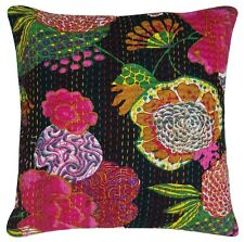 Decorative Cushion Throw Pillow Cover Fruilt Print Kantha Embroidered Cotton'