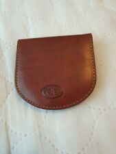 Brown Leather Coin Purse Made In Italy