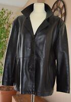 Veste en cuir agneau marron taille 42 - INFLUENCE (vintage)