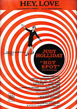 "Judy Holliday ""HOT SPOT"" Mary Rodgers / Martin Charnin 1963 FLOP Sheet Music"