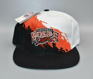 Cincinnati Bengals Vintage 90's Logo 7 Splash Twill Snapback Cap Hat - NWT