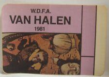 Van Halen - Vintage Original Concert Tour Cloth Backstage Pass