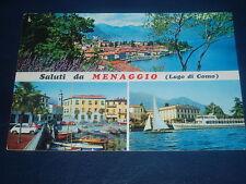 Vintage Postcard * Saluti da MENAGGIO (Lago di Como) - stamp