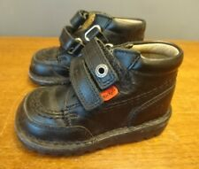 Kickers boots black Leather school shoes Ankle Boots UK infants Size 22 5 5.5 UK