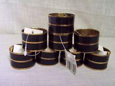 Black Enamel Brass Napkin Rings Set of 8