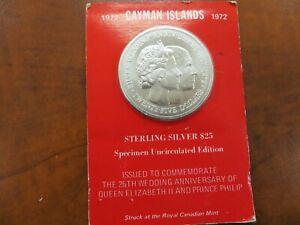 1972 Cayman Islands 25 Dollar Silver Coin! Lot 226