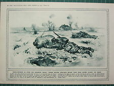 1915 WWI WW1 PRINT ~ TRENCH-DEFENCES FRENCH ROLLING SAND-BAGS AGAINST THE ENEMY