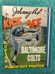 1960's JOHNNY PROS BALTIMORE COLTS BOOK ALBUM NR-MINT