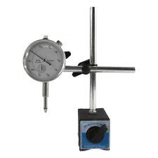 0 - 10mm Dial Indicator Gauge + Magnetic Base Holder + 0.01mm Resolution