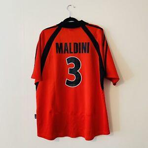 Maldini Ac Milan Football Shirt Mens Large Adidas Maglia Excellent