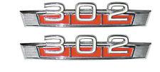 69-71 Ford Bronco 68 Fairlane 302 Fender Emblem - Pair