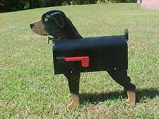 💗 Rottweiler Dog Mailbox Custom Animal Mailboxes Postal Mail Box