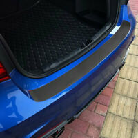 Car Rear Bumper Sill Protector Plate Rubber Cover Guard Pad Back Door Boot Trim