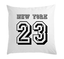 New York 23 White Pillow Case Cushion Cover 40 cm