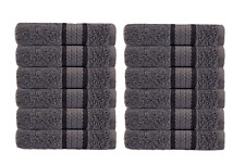 Cotton Craft Ultra Soft 12 Pack Wash Cloths 12x12 Charcoal weighs 2 Ounces each