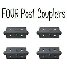 Post Coupler Outer Black (4 Pack) for Edsal Muscle Rack - CPOUT-BLK-4