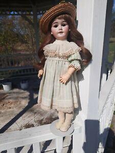 "RARE ""PETER SCHERF"" German Bisque Head Doll Wood/Compo Body 20"""