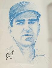 New York Mets Ed Cranepool Signé Autographe Imprimé & COA Croquis Par John