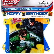 Justice League Happy Birthday 6 Foot Jointed Banner Party Decoration Supplies