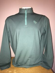 PETER MILLAR 1/4 ZIP WICKING GOLF PULLOVER with COUNTRY CLUB logo mens XL