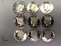 Proof Set 1970-1979-S Kennedy Half Dollars+Decade+1970-S 40% Silver+Some DCAMs#5