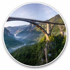 2 x Vinyl Stickers 25cm - Djurdjevica Bridge Montenegro  Cool Gift #16945