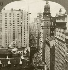 Keystone Stereoview View up Broadway, NYC, New York from 1910's Education Set #B