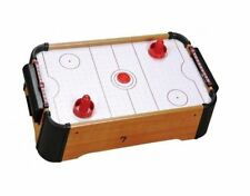 """New Table Top Air Hockey 20"""" Pool Kids Children Wooden Family Fun Gift Football"""