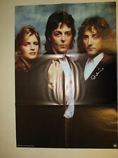 """Paul McCartney & Wings 23""""x33"""" Poster / AUTOGRAPHED Signed by Denny Laine! 1978"""