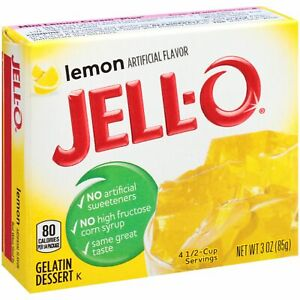 4Pk (12oz total) Jell-O Lemon Gelatin ~* FAST FREE SHIPPING ! *~