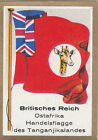 DRAPEAU British Empire britannique East Africa Trade Commerce FLAG CARD 30s